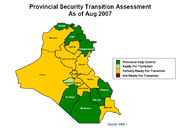 Provincial security transition assessment august 2007