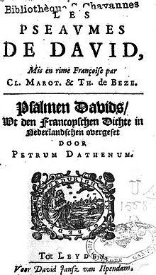 Petrus Dathenus - Wikimonde