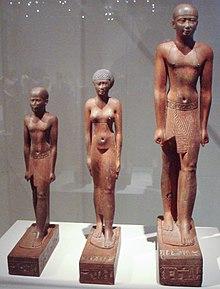 Trois statues, Psammétique Ier, sa femme et son fils