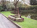 Pump by Crawley village pond - geograph.org.uk - 347331.jpg