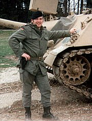 (West) German Army First Sergeant with olive green Battle Dress (1989)