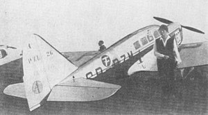 PZL.26 - PZL.26 SP-PZM of Ignacy Giedgowd during the Challenge 1934