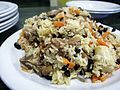 Qabuli palao (rice with carrots & raisins) with lamb - Afghanistan - 04272008.jpg