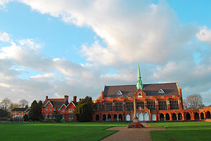 St John's School, Leatherhead - Dining Hall and the Quad War Memorial