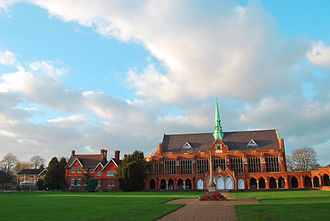 St John's School, Leatherhead - Dining Hall and the Quad War Memorial