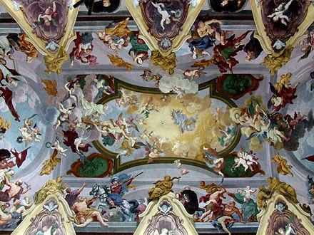 Lubiana: la volta della Cattedrale di San Nicola