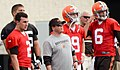 Quarterbacks at 2014 Browns Training Camp.jpg