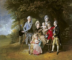 Queen Charlotte with members of her family