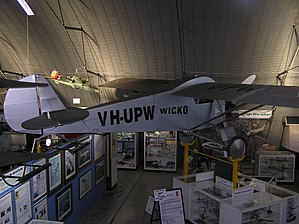 Queensland Air Museum - Wicko Cabin Sports VH-UPW replica at the Queensland Air Museum