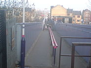Quernmore road entrance looking onto overpass