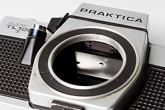 Single-lens reflex camera - Focusing screen on Praktica Super TL1000