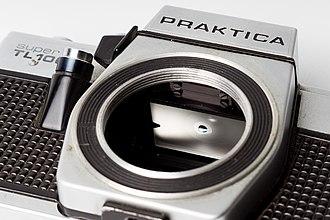 Single-lens reflex camera - Focusing screen on Praktica Super TL1000