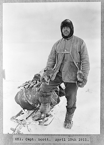 English: Captain Robert Falcon Scott, leader o...