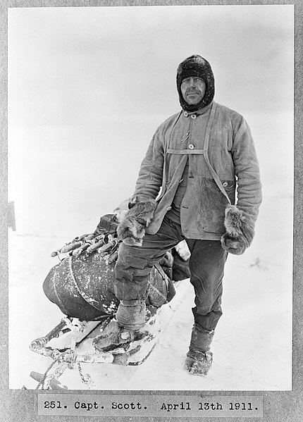 File:R. F. Scott 1911 in polar gear.jpg