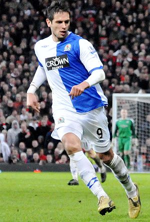 Roque Santa Cruz - Santa Cruz during his first spell with Blackburn.