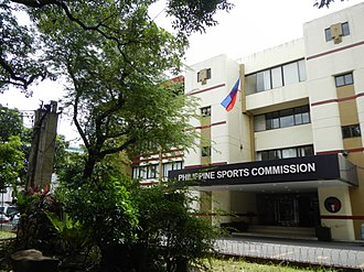 Philippine Sports Commission - Facade of the PSC Administrative Building