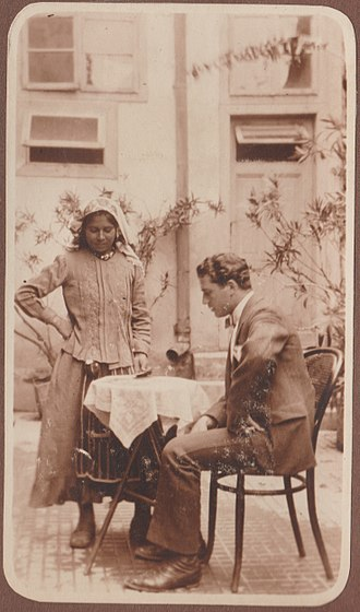 Cochin Jews - Rabbi Salomon Halevi (last Rabbi of Madras Synagogue) and his wife Rebecca Cohen, Paradesi Jews of Madras