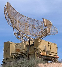 Israeli militar radar is typical o the type o radar uised for air traffic control. The antenna rotates at a steady rate, sweepin the local airspace wi a narrow vertical fan-shaped beam, tae detect aircraft at aw altitudes.