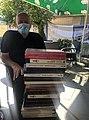 Radovan Beli Marković with his books.jpg