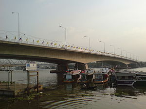 Rama VII Bridge - View from east bank