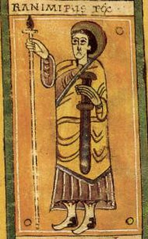 Ramiro Garcés of Viguera - Image of Ramiro from the Codex Vigilanus.