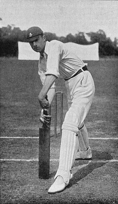 Ranji 1897 page 153 J. R. Mason playing forward.jpg