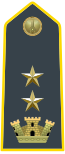 Rank insignia of tenente colonnello of the Guardia di Finanza.svg