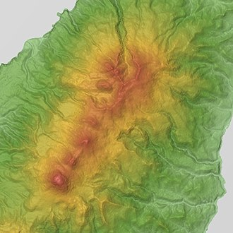 Mount Rausu - Image: Rausu Shiretoko Io Volcano Group Relief Map, SRTM 1