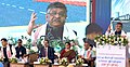 Ravi Shankar Prasad addressing at the foundation stone laying ceremony for Common Facilitation Centre and Smart Meter Manufacturing Facility in Electronics Manufacturing Cluster (EMC) in Tech City, Bongara village, in Assam.JPG