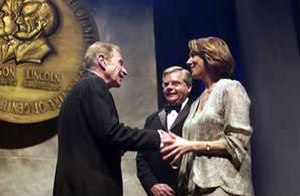 Ray Dolby - Dolby (left) being inducted into the National Inventors Hall of Fame, 2004