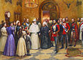 Reception of the Emperor of Russia at Balmoral by A.Forestier (1896, Royal coll.).jpg