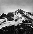 Red Glacier, mountain glacier, icefall and bergschrund, part of the glacier is covered in rocks and other debris, August 25, 1963 (GLACIERS 6726).jpg