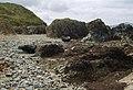 Reefs and boulders at Porth Penterfyn - geograph.org.uk - 1407176.jpg