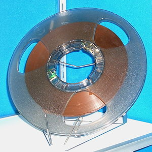 Reel-to-reel audio tape recording - Professional-style tape reel designed to fit large NARTB hub.