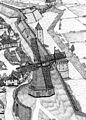 Rekonstruktion Der Windmühle auf dem Windmühlenberg und der Stadtmauer um 1772..jpg