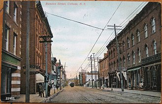 Cohoes, New York - A view down Remsen Street in 1908.