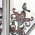 Renaissance-Fresken im Münster St. Johannes Bad Mergentheim. Vogel auf dem Kopf.jpg
