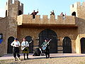 Renaissance fair - buildings - exit.JPG