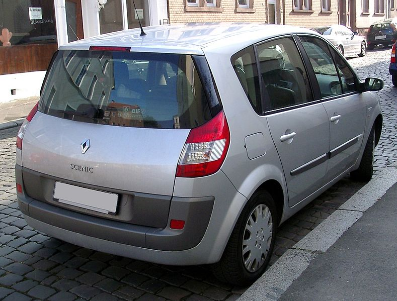 file renault scenic rear wikimedia commons. Black Bedroom Furniture Sets. Home Design Ideas