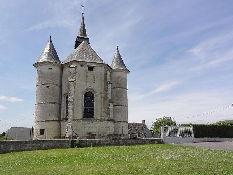 Renneval (Aisne) église, tours de défense chevet
