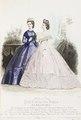 Reprofotografi av modeplansch i tidskriften Le Journal des Demoiselles - Hallwylska museet - 87236.tif