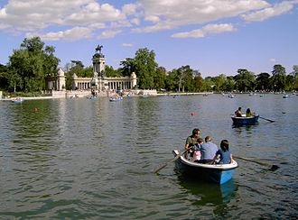 Districts of Madrid - Parque del buen Retiro.