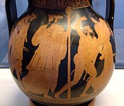 Η επιστροφή του Ηφαίστου στον Όλυμπο με τον Διόνυσο και τον θίασό του.