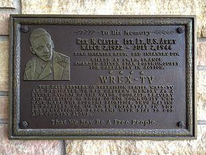 WREX - Image: Rex Caster memorial at WREX
