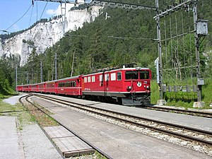 Versam-Safien (Rhaetian Railway station) - Image: Rhine Gorge Versam panoramio Jakkes (3)