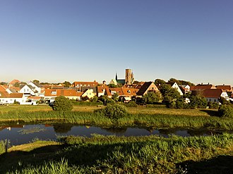 Ribe - Ribe seen from Riberhus