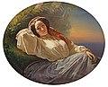 Richard Lauchert - Bildnis einer ruhenden jungen Adeligen im Abendlicht.jpg