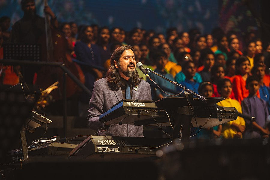 Ricky Kej during one of his live concerts.jpg