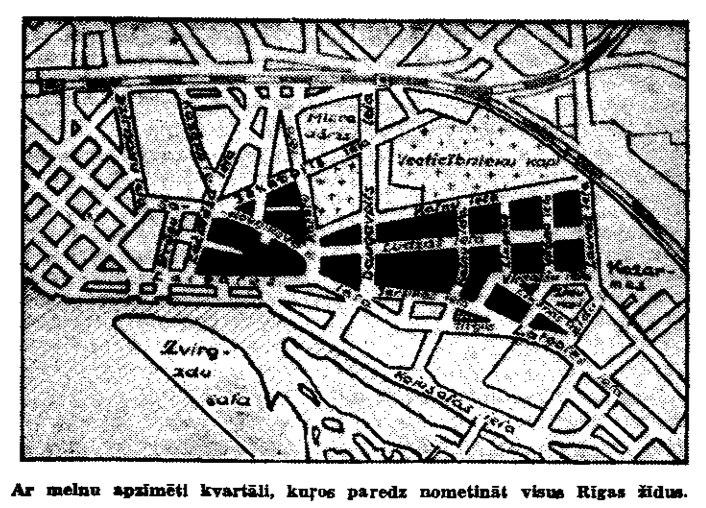 Riga ghetto map