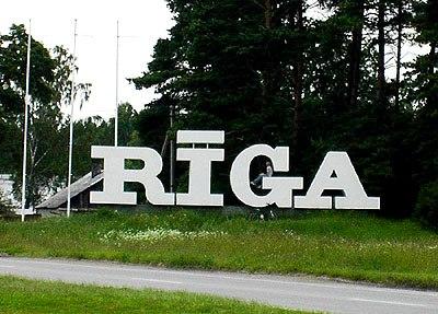 Riga ortseingang